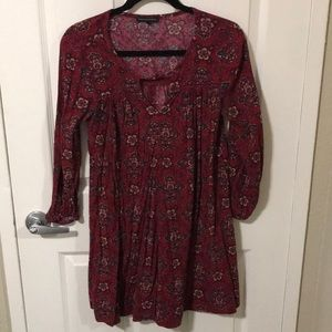 American Eagle Paisley Red Dress